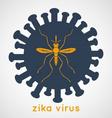 Zika Virus Poster vector image