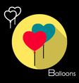 Balloon icon vector image