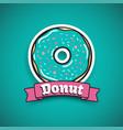 sweet mint donut advertising banner vector image