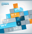 abstract infographic elements vector image vector image