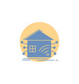 automation home house smart network glyph icon vector image