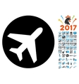 Avion Icon with 2017 Year Bonus Symbols vector image vector image