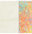 background of paper and small squares mosaic vector image