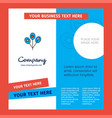 balloons company brochure template busienss vector image