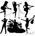 Band Gigging Background with Instruments vector image vector image