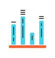bar graph color icon diagram line graph vector image vector image