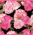 beautiful roses and hydrangea seamless vector image vector image