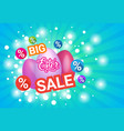 big sale easter holiday concept shopping poster vector image vector image