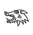 boar head celtic knot black and white stencil vector image