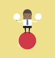 businessman balancing on red ball vector image