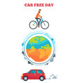 car free day symbol vector image vector image