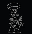 cartoon chef stirring vector image vector image