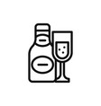 champagne icon vector image vector image