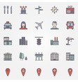 City colorful icons vector image