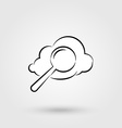 Cloud search icon vector image