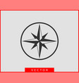 compass icon wind rose star navigation vector image vector image