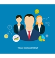 concept human resources and teamwork vector image