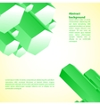 Cristal green prism for your vector image vector image