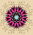 decorative shape with floral vector image vector image