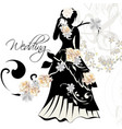 design of wedding invitation with female shape vector image