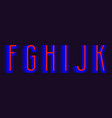 f g h i j k red blue layered letters urban vector image vector image