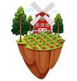 farmyard with vegetable garden vector image vector image