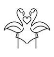 flamingo cartoon vector image vector image