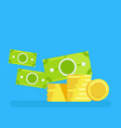 gold coins icon vector image vector image