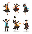 graduation of happy students at different nations vector image vector image