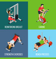 gym people isolated icon set vector image vector image