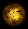 halloween flying bat world globe earth background vector image vector image