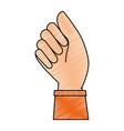 hand human fist icon vector image