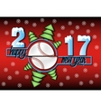 Happy new year 2017 and baseball vector image vector image