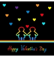 Happy Valentines Day Love card Gay marriage vector image vector image