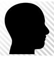 Head Profile Icon vector image vector image