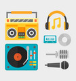 hip hop accessory musician with microphone vector image vector image