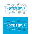 home repair tools and equipment vector image vector image