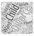 how to talk to your children Word Cloud Concept vector image vector image