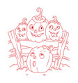 icon and element for helloween vector image vector image