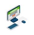 Isometric laptop icon flat design vector image vector image
