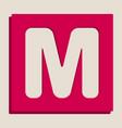 letter m sign design template element vector image vector image