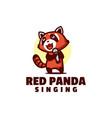logo red panda mascot cartoon style vector image