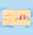 lungs healthy treatment concept for website vector image vector image