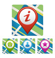 Map pin style modern icon pointer minimal