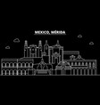 merida silhouette skyline mexico - merida vector image vector image