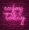 neon light lettering stock color design vector image vector image
