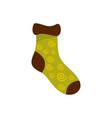 one sock icon flat style vector image vector image