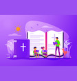 religious summer camp concept vector image vector image
