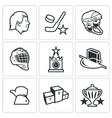 Russian hockey icon vector image vector image