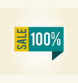sale 100 label with title on vector image
